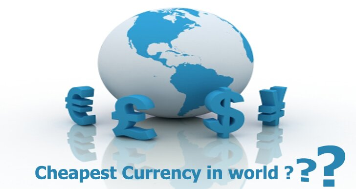 Cheapest currency in world