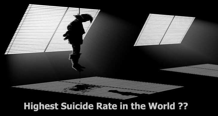 Which Country has the Highest Suicide Rate