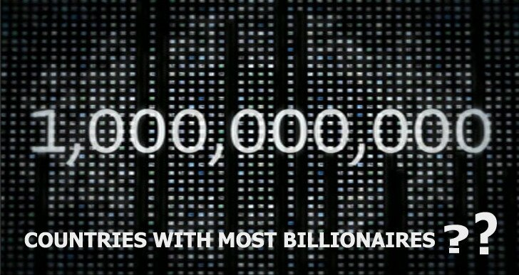 Which Country has Most Billionaires in the World